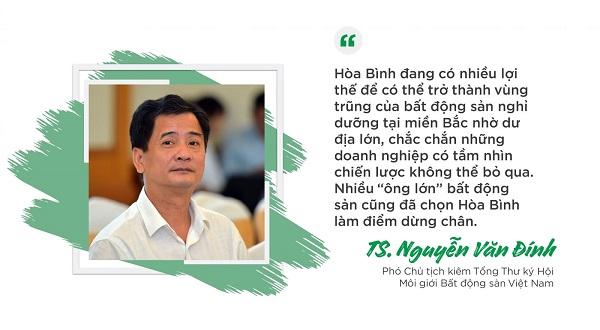 """TS. Nguyễn Văn Đình: """"Hoà Bình có nhiều lợi thế trở thành vùng trũng của BĐS du lịch nghỉ dưỡng phía Bắc"""""""